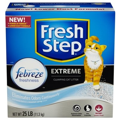 Image of Cat Litter, Extreme Odor Control, Scoopable, 25-Lbs.