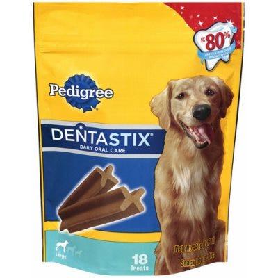 Dog Treats, Dentastix, For Large Dogs, 18-Ct.