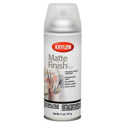 Matte Finish Spray Paint, Matte Clear, 11-oz.