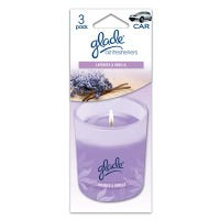 Car Air Freshener, Paper Candle With Lavender/Vanilla Scent, 3-Pk.