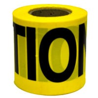 Caution Tape, Weatherproof, Yellow, 3-In. x 300-Ft.