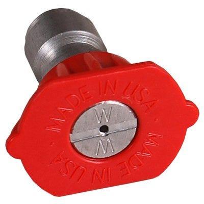 High-Pressure Nozzle, 0 Degree, 3.0 Orifice, Red
