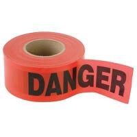 """""""Danger"""" Tape, Red Weatherproof Vinyl, 1,000-Ft."""