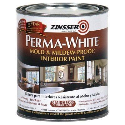 Mold & Mlidew Proof Interior Paint, White Semi-Gloss, Quart