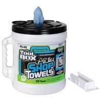 Blue Shop Towels, Big Grip Dispenser Bucket, 200-Ct.