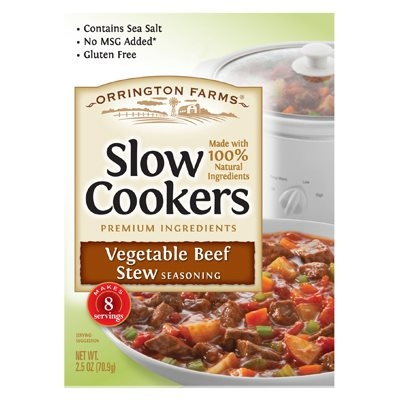 Image of Slow Cookers Vegetable Beef Stew Mix, 2.5-oz.