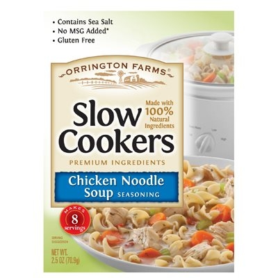 Image of Slow Cookers Chicken Noodle Soup Mix, 2.5-oz.