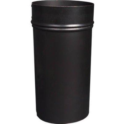 Image of Black Stove Pipe Slip Connector, 24-Ga., 8-In.