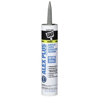 Image of 10.1-oz. Alex Plus Slate Gray Acrylic Latex Caulk