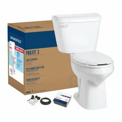 Pro-Fit 3 Toilet Kit, Elongated, Bone