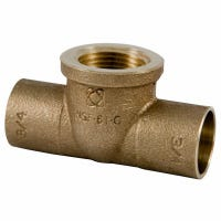 Copper Pipe Fitting, Female Tee, 1/2 x 1/2 x 1/2-In.
