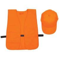 Hat & Vest Combo, Orange, One Size