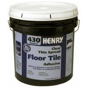 430 Thin-Spread Floor Tile Adhesive, Clear, 4-Gals.