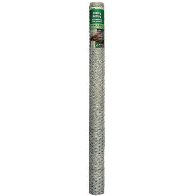 Galvanized Poultry Netting, 1-In. Mesh, 20-Ga., 60-In. x 50-Ft.