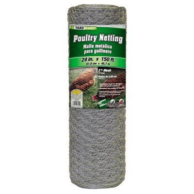 Image of 24-In. x 150-Ft. Galvanized Poultry Net