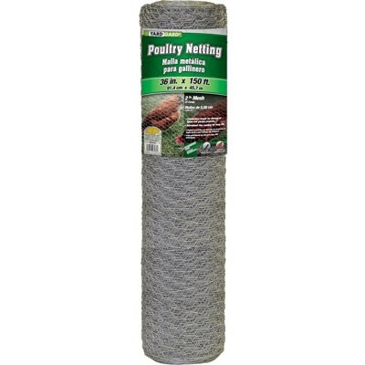 Image of 36-In. x 150-Ft. Galvanized Poultry Net