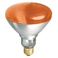 Flood Light Bulb, Accent Reflector, Amber, 100-Watts
