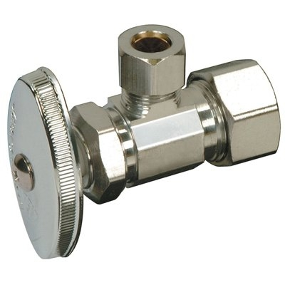 Image of Angle Stop Valve, Chrome, 3/8 x 3/8-In.