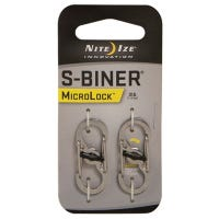 S-Clip, Micro Lock, Stainless Steel, 2-Pk.