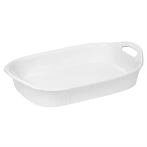 Image of Casserole Dish, Oblong, French White III, 3-Qt.