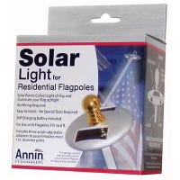 Flag Pole Solar Light, Mini, Silver