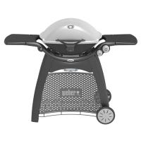 Q-3200 Portable Natural Gas Grill, With Cart & Side Tables, 21,000-BTU