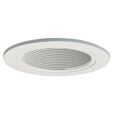 Coilex Baffle, White With White Trim Ring, 4-In.