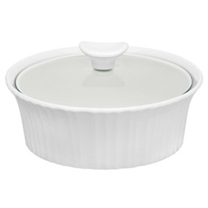 Image of Casserole Dish With Glass Lid, French White III, 1.5-Qt.
