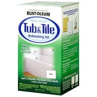 Tub & Tile Refinishing Kit, White, 2 Part, 32-oz.