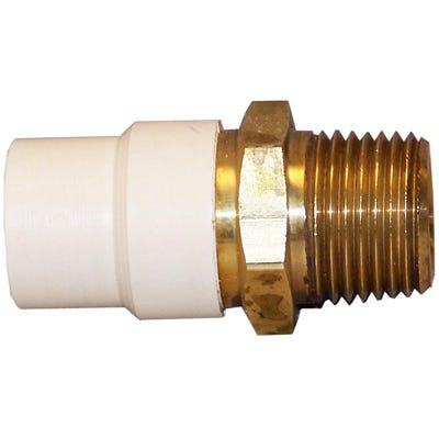 CPVC Transition Pipe Adapter, Lead-Free Brass, 3/4-In. FPT
