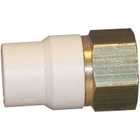 CPVC Transition Pipe Adapter, Lead-Free Brass, 1/2-In. MPT