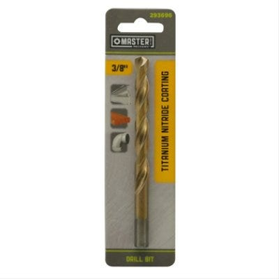 3/8 x 5-In. High-Speed Steel Drill Bit, Titanium Nitride Coated