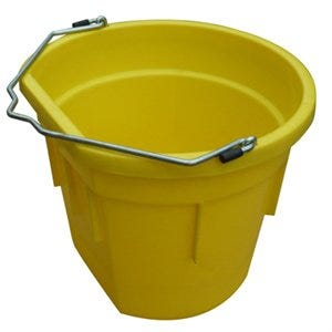 Utility Bucket, Flat Sided, Yellow Resin, 20-Qts.