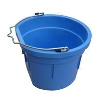 Utility Bucket, Flat Sided, Sky Blue Resin, 8-Qts.