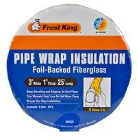 Pipe-Wrap Insulation Kit, Fiberglass , 1 x 3-In. x 25-Ft.