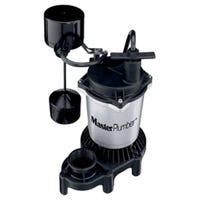 Sump Pump, Zinc & Plastic Construction, .5-HP Motor, 4,200 GPH