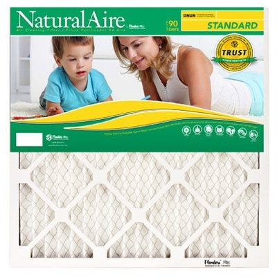 Standard Pleated Air Filter, 90 Days, 10x10x1-In.