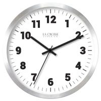 Wall Clock, Brushed Silver Metal, 10-In.