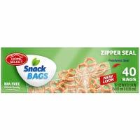 Snack Bags, Zipper Seal, 6.5 x 3.25-In., 50-Ct.