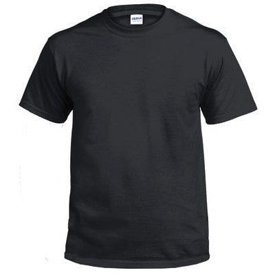 T-Shirt, Short-Sleeve, Black Cotton, Medium