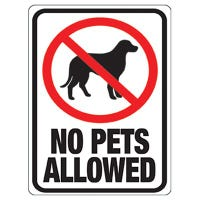 No Pets Sign, 8.5 x 12-In.