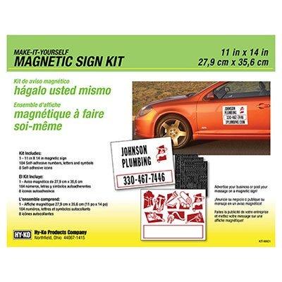 Sign Kit, Magnetic, 11 x 4-In., 2-Pk.