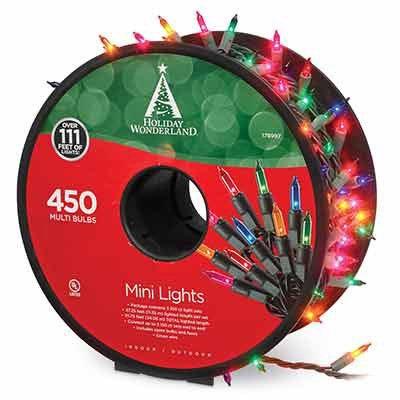 Christmas Mini Light Set, Multi, 450-Ct. Reel