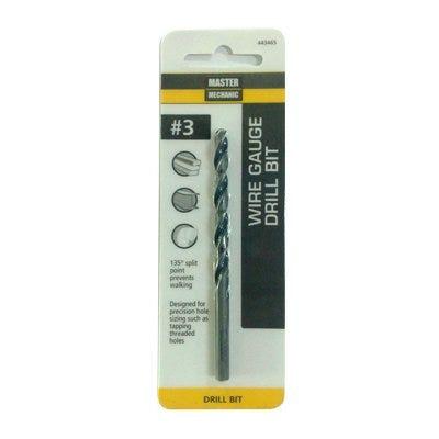 #3 3-3/4-In. Wire Gauge Drill Bit, Black Oxide