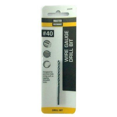 #40 2-3/8-In. Wire Gauge Drill Bit, Black Oxide
