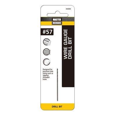 #57 1-3/4-In. Wire Gauge Drill Bit, Black Oxide
