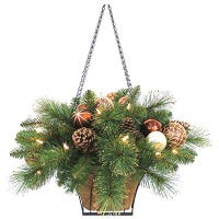Lighted Artifical Plant Hanging Basket, Must Purchase in Quantities of 2