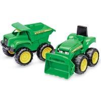 Toy Dump Truck & Tractor, 2-Pk.