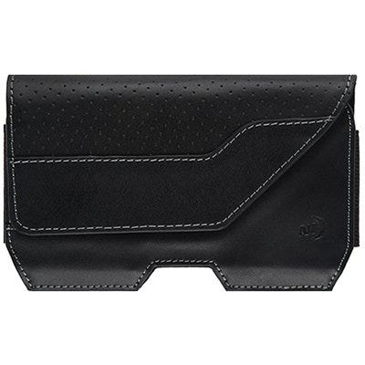 Executive Holster Cell Phone Case, Clip, Black Leather, XL