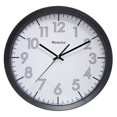 Image of Office Wall Clock, Black/Gray, 14-In.